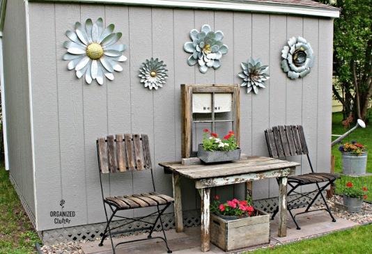 Outdoor Junk Garden Shed Decor organizedclutter.net